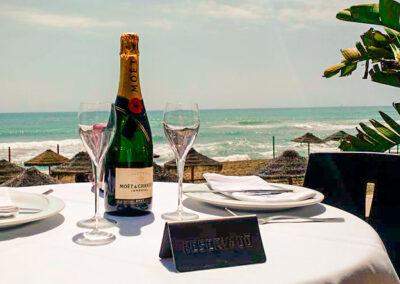 Champagne al sol